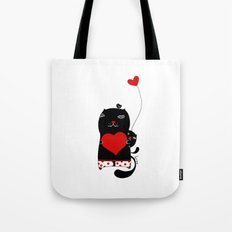 Cats with hearts Tote Bag