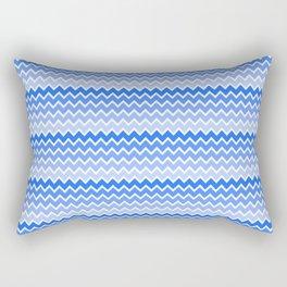 Blue Ombre Chevron Rectangular Pillow