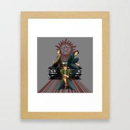 Three Blades Framed Art Print