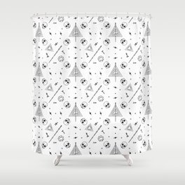 Deathly Hallows (White) Shower Curtain