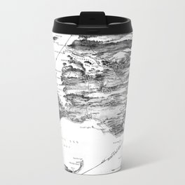 Vintage Cape Cod and NYC Steamboat Route Map BW Travel Mug