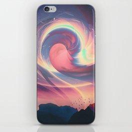 Aurora catch iPhone Skin