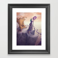 Feather Island Framed Art Print