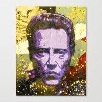 christopher walken Canvas Prints featuring Christopher Walken by Bobby Zeik