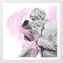 A kiss is a kiss Art Print