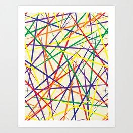 PICK UP STICKS Art Print