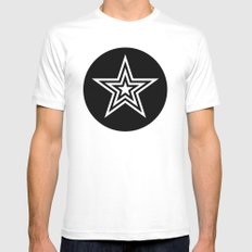Star White Mens Fitted Tee X-LARGE