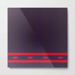 Fractal Art Red Ellipses On Warm Brown Metal Print