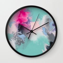 The Josie Abstract Colour Infusion Wall Clock