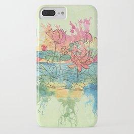 Lotus Splash iPhone Case