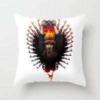 apocalypse now Throw Pillows featuring Apocalypse now by LukArt