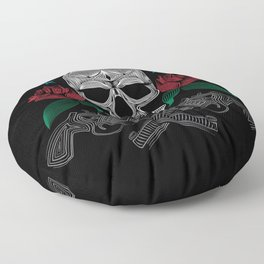 Skull and Guns Floor Pillow