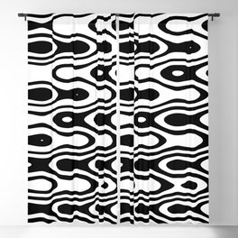 Asymmetry collection: black and white dynamic waves Blackout Curtain