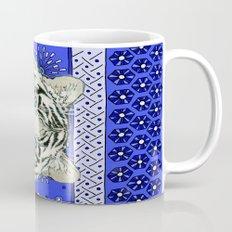 White Tiger in blue Az024 Mug