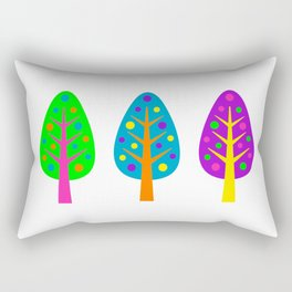 CHRISTMAS TREES_COLORFUL Rectangular Pillow