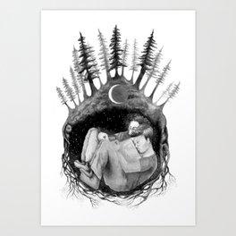 hibernate with me Art Print