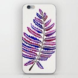 Fern Leaf – Indigo Palette iPhone Skin