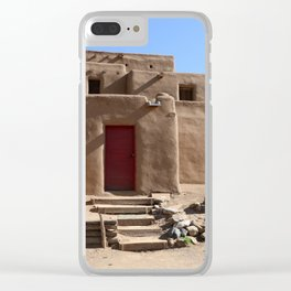 Taos Red Doors Clear iPhone Case