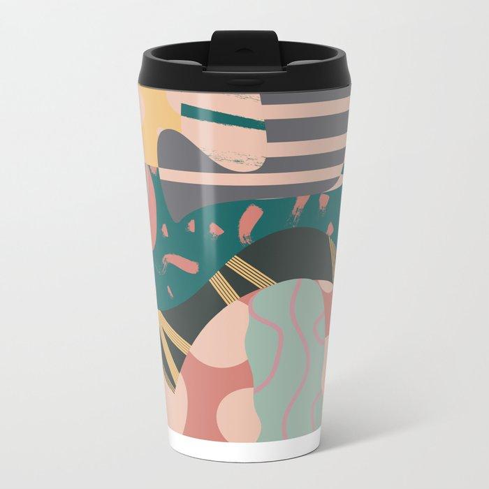 Tribal pastels Metal Travel Mug