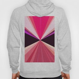 Hot pink black modern triangles pattern Hoody