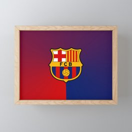 barcelona Sport Football Spain red blue team Framed Mini Art Print