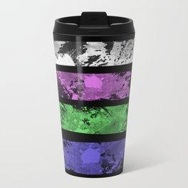 Rank Of Colour I - Abstract, textured, pastel themed artwork Travel Mug