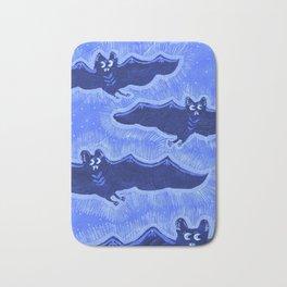 Blue Batty Flight Bath Mat