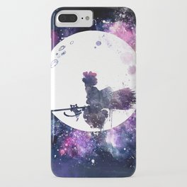 Kiki & Jiji Flying Over The Moon Kiki's Delivery Service iPhone Case