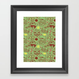 Have a Hipster Christmas! Framed Art Print