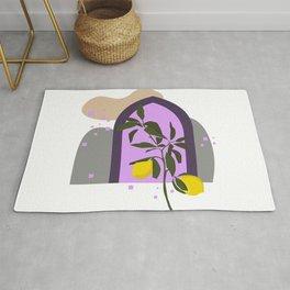 THE LEMON TREE, Botanical Wall Art Set, Abstract Print, Boho Print, Botanical Print, Tree Prints Rug