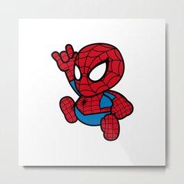 Cute Spider Metal Print