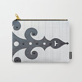 Black on White Carry-All Pouch