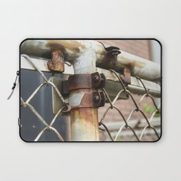 Rusty Chain Link Fence Laptop Sleeve