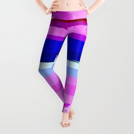 Honest Abe - Glitch Art Leggings