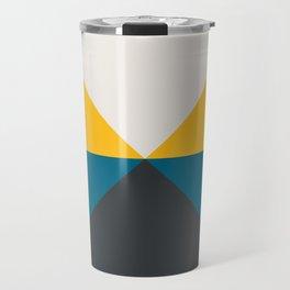 Split X Teal & Yellow Travel Mug