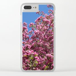 Spring blossoms pink Clear iPhone Case