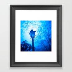 The Blue Lamp Framed Art Print