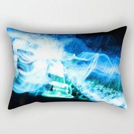 Radio Blue Rectangular Pillow