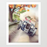 He was Toad once more - From The Wind in the Willows - By Kenneth Grahame Art Print