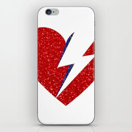 Bowie Heart iPhone Skin