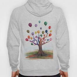 Balloon Tree Watercolor Hoody