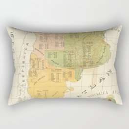 Vintage Map of Argentina (1918) Rectangular Pillow