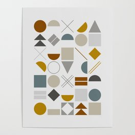 Mid West Geometric 01 Poster