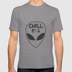 Chill Out Alien Mens Fitted Tee Tri-Grey 2X-LARGE