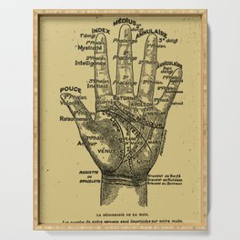French Palmistry Serving Tray