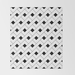 Monochrome Intricate Pattern Alpha Throw Blanket