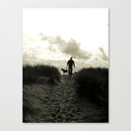 One man and his dog Canvas Print