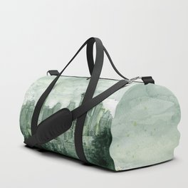 Seattle Skyline Watercolor Space Needle Emerald City 12th Man Art Duffle Bag