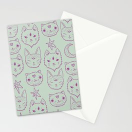 Mitty Mystics in Green Stationery Cards