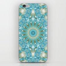 Turquoise and Gold Mandala Tile iPhone & iPod Skin